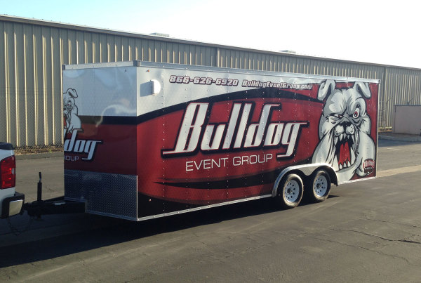 Bulldog Event Group trailer wrap